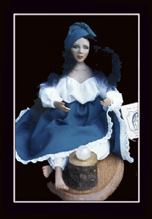 Click here to view close-up of the African American Doll, The Marie Laveau Doll  / Crystal Ball