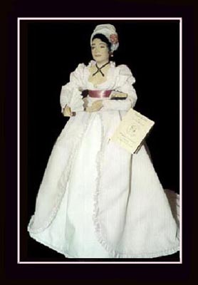 Click here to View Close up of the African American Doll, Marie-Constance, The Tignon Law Doll
