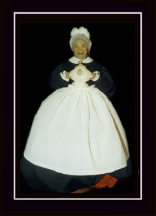 Click here to view closeup of the African American Doll, Zabelle, Creole Gumbo Queen Doll